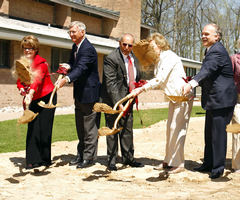 At the groundbreaking for the Spoelhof Fieldhouse Complex