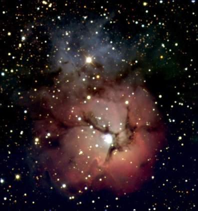 Trifid Nebula M20 (Photographed by Elise Crull, 2004)