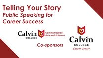 My Story, Calvin's Story: ELEVATOR PITCH COMPETITION