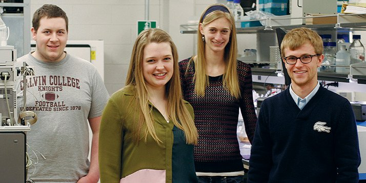 Left to right: Jake Lampen, Abigail Streelman, Nicole Michmerhuizen, John Strikwerda