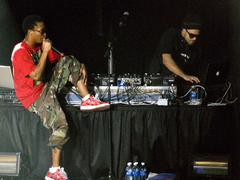 Lupe Fiasco banters with DJ