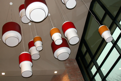 The lamps in the east wing of CFAC