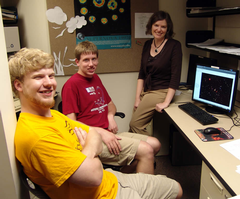 Co-researchers David Sebald, Nathan Harkema and Deb Haarsma. (Not pictured: Luke Leisman)