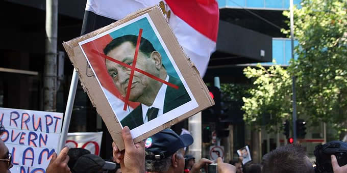 As many as a million citizens joined the recent protests in Egypt. (Photo by Wikimedia Commons)