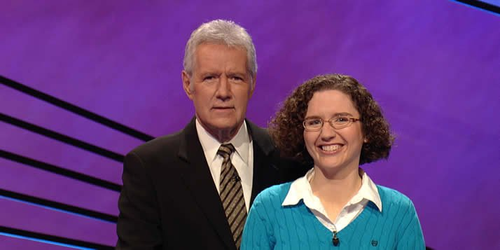Cathy Guiles, formerly of the staff of Chimes, recently competed on three episodes of Jeopardy and won two.
