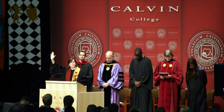 It was a year of firsts for Convocation 2009 at Calvin College