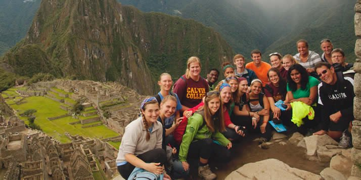 Students on Calvin's semester program in Peru