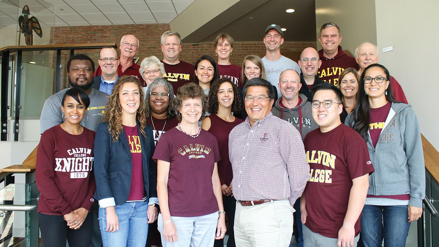 The Heritage Class with members of the alumni board.