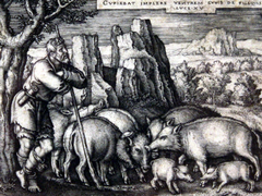 Detail from the Beham print