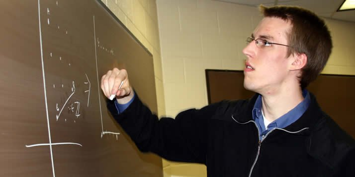A math and computer science major was a top scorer in a prestigious international math competition.