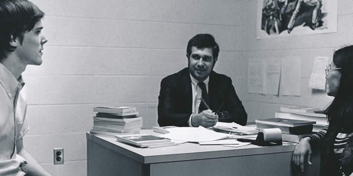 Roberts began his teaching career at Calvin in 1969.