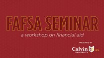 Unity Christian High School Financial Aid Seminar
