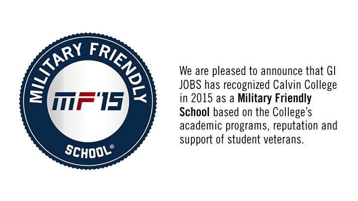 Calvin is a military friendly school