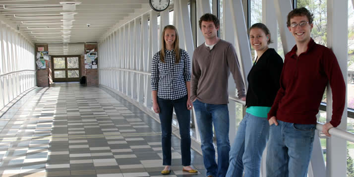 Four Calvin science students have landed prestigious research awards.