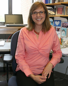 Psychology professor Julie Yonker