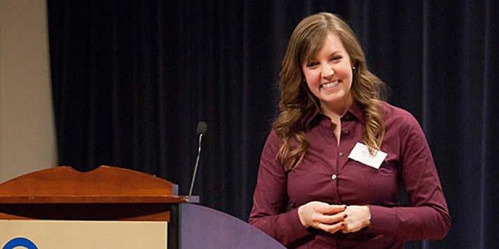 Calvin senior business major Kelly LeCoy took top honors in the 2011 Regional BizPlan competition.