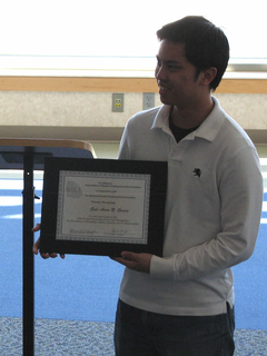 Amos Garcia, student employee of the year