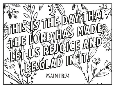 Psalm 118 coloring page