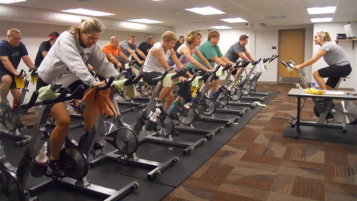 Try a spin class like this, or Yoga or Tai Chi (all skill levels welcome).
