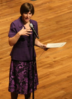 Professor Tiffany Engle, camp director