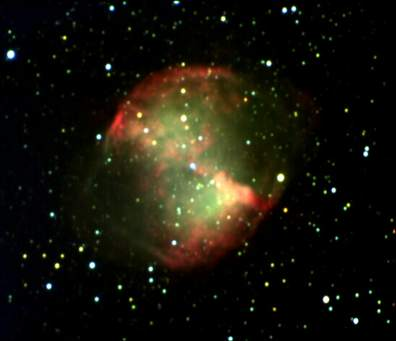 The Dumbbell Nebula (Photographed by Professor Molnar)