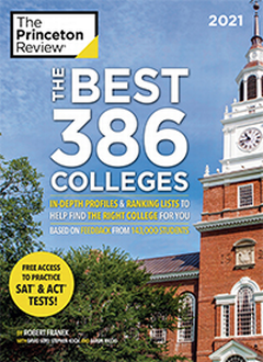 "A book cover for ""The Best 386 Colleges"""