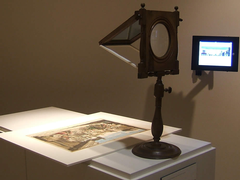 Old and new technologies used to view art