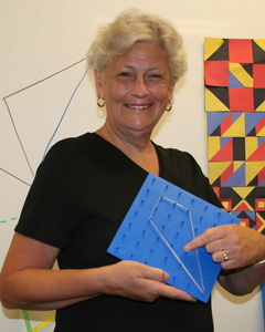 Jan Koop with a geoboard