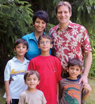 Anne Zaki, with her husband, Naji Umran, and sons, Jonathan, Sebastian, Emmanuel and Alexander.
