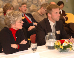 Professor Heun with Governor Granholm