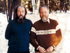 Edward Ericson, Jr. with Aleksandr Solzhenitsyn