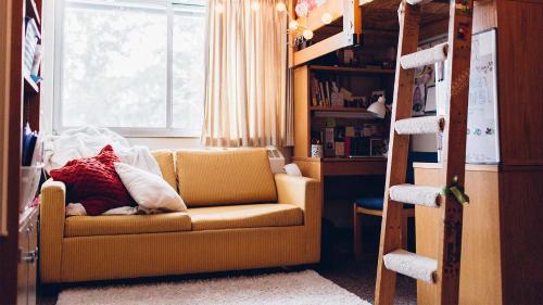 Calvin dorm room, early morning