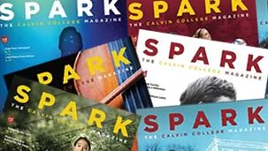Collage of Spark magazine covers