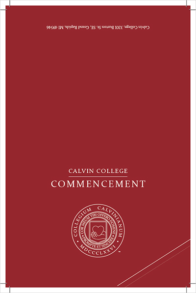 Commencement invitation (Maroon)