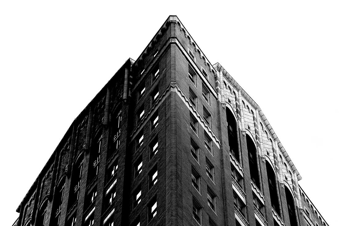 The Pharaoh in Atlanta - greyscale photograph of building in Atlanta