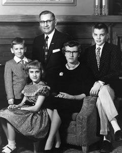 William and Angeline Spoelhof with children Pete, Elsa and Bob (from left) in a family portrait from about 1956.