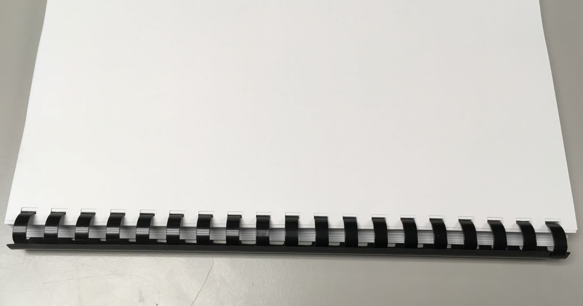 Example image of comb binding