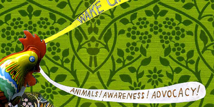 Calvin philosophy professor Matt Halteman and art professor Adam Wolpa collaborate on Wake Up Weekend, the annual winter gathering of local and national animal advocacy organizations